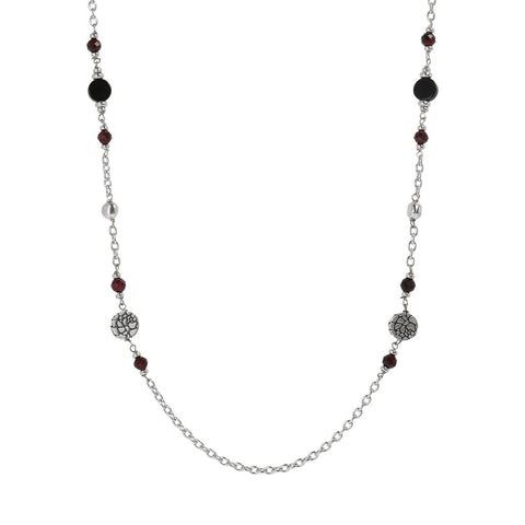 MISTERO ROLò CHAIN WITH ROUNDEL AND GEMSTONE NECKLACE  - WSOX00312