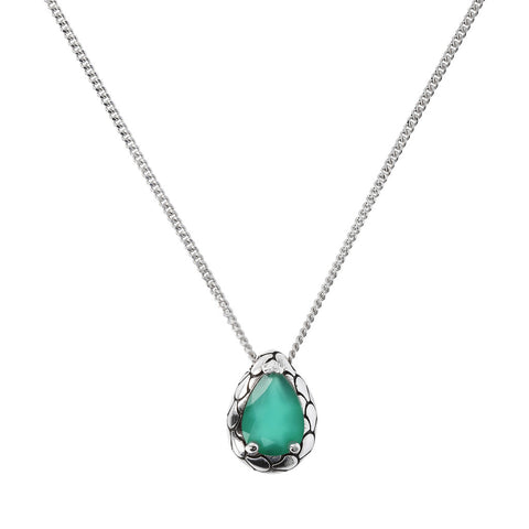 "NECKLACE 45cm with ""o"" ring to 40cm  WITH DROP GEMSTONE PENDANT  - WSOX00317"