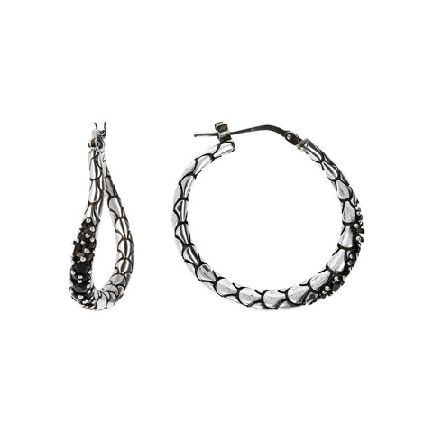 Oval Mermaid Earrings frontale e laterale