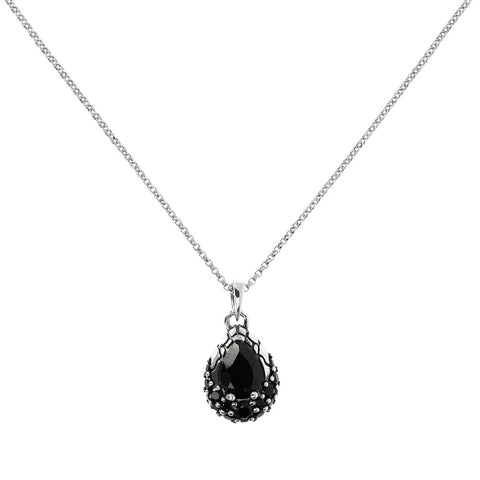 Pendente in Argento e Black Spinel