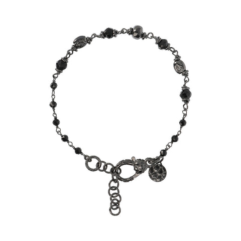 Ruthenium and Black Spinel Mermaid Bracelet