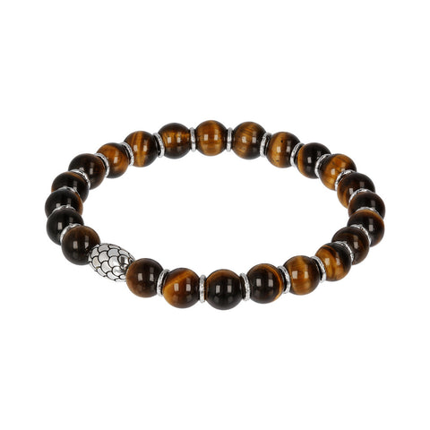 Silver and Tiger Eye Mermaid Bracelet