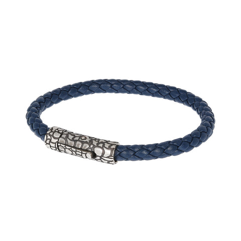 Snake Rope Bracelet-BLU LEATHER