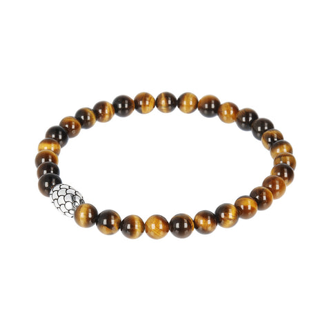Stretch Stone Mermaid Bracelet con OCCHIO DI TIGRE