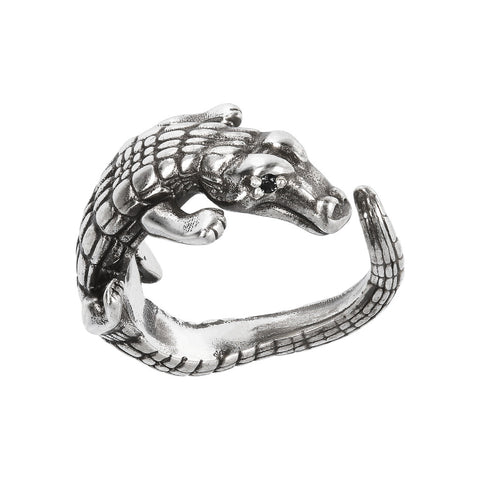 montatura del TERRA CROCODILE TEXTURED RING  - WSOX00322