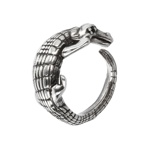 TERRA CROCODILE TEXTURED RING  - WSOX00322