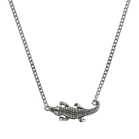 TERRA GD CHain necklace  WITH CROCODILE PENDANT WITH GEMSTONE  - WSOX00319