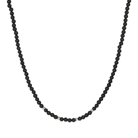 TERRA ROUND PLAIN GEMSTONE BEADS NECKLACE - ONICE MATT - WSOX00209