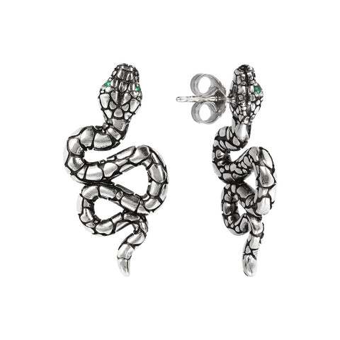 TERRA TEXTURE SNAKE EARRINGS  - WSOX00307 frontale e laterale
