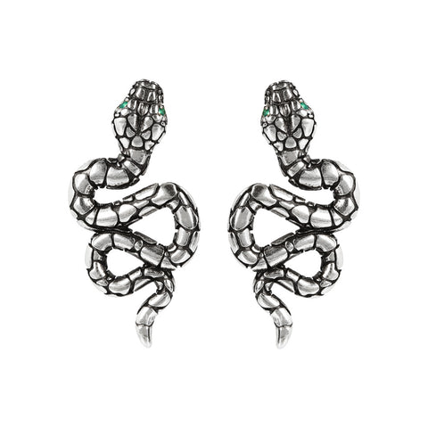 TERRA TEXTURE SNAKE EARRINGS  - WSOX00307