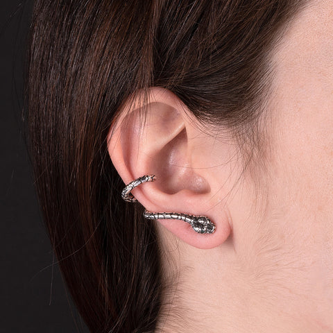 TERRA TEXTURED SNAKE EARRINGS  - WSOX00323
