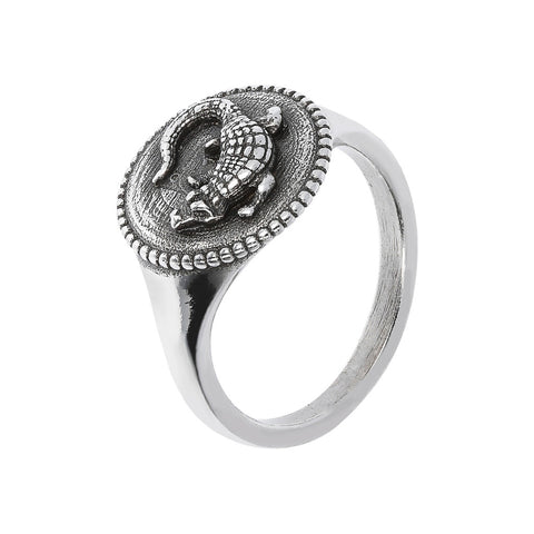 TERRA shiny ring with snake  - COCCODRILLO  - WSOX00353