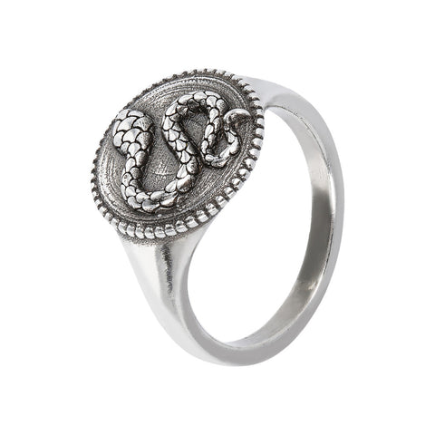 TERRA shiny ring with snake  - SERPENTE  - WSOX00353