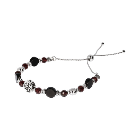 MISTERO ADJUSTABLE ROUNDEL AND GEMSTONE BRACELET  - WSOX00313