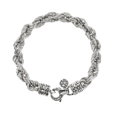 ARIA rope d/c with texture clasp bracelet  - WSOX00311