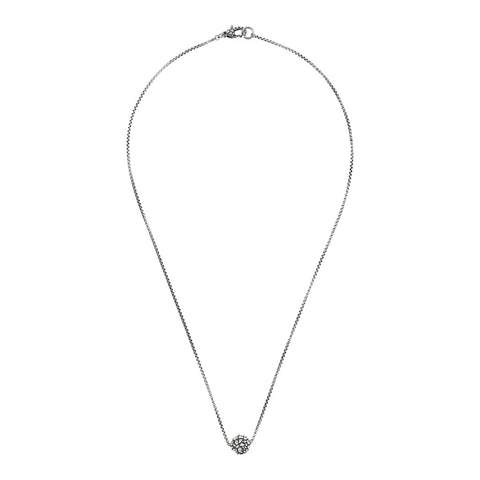 chain men necklace with round texture pendant  - WSOX00228 intero