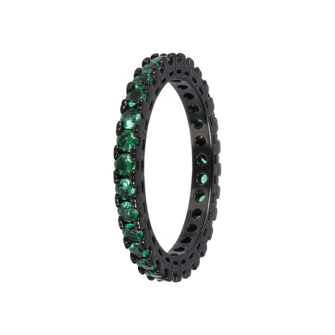 cz band ring  - CUBIC ZIRCONIA VERDE - WSOX00391