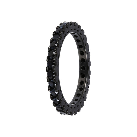 cz band ring  - SPINELLO NERO - WSOX00391