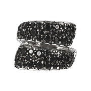 montatura del textured contrariè ring with black spinel gemstone  - WSOX00132