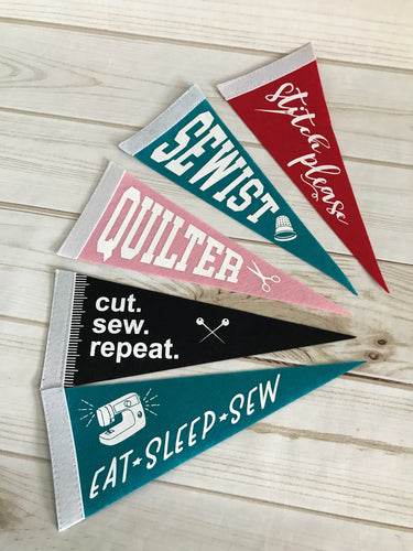 Set of 5 Felt Pennants by Christopher Thompson for Riley Blake Designs
