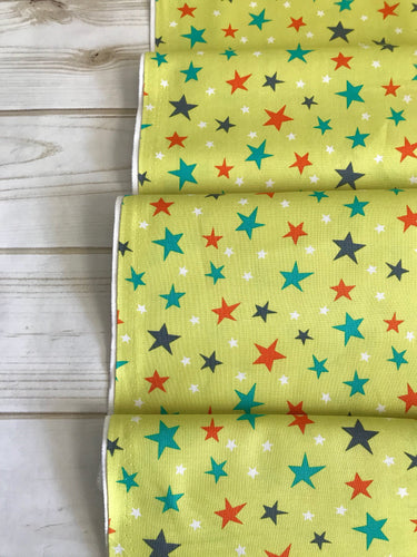 Atomic Stars on Lime Bot Boy Collection by Michael Miller
