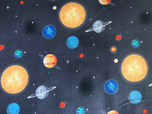 Out of This World With NASA~ Planets Charcoal ~ Riley Blake Designs ~ 100% Cotton