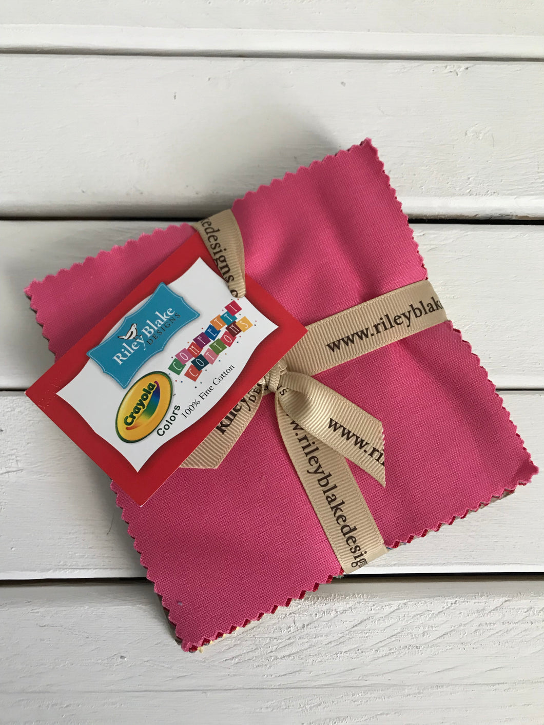 Confetti Cotton Crayola Charm Pack- 42 pieces 100% Cotton ~ Riley Blake Designs