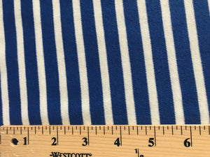 Organic KNIT~ Colorful Stripes Blue ~ C9 Knits 2017 Collection ~ Cloud9 Fabrics Organic Interlock Knit