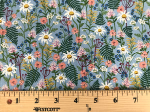 Wildflowers Blue ~ Wildwood Collection ~ 100% Cotton ~ Rifle Paper Company for Cotton + Steel