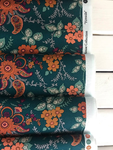 Fireside Dark Green ~Hesketh House Collection ~Liberty Fabrics 100% Cotton