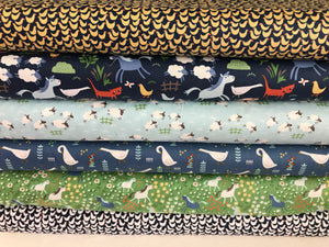 Geese ~ Fifty Shades of Hay Collection by Dear Stella Designs 100% Cotton