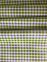 Medium Gingham 1/4-inch Green PRINTED ~ Riley Blake Designs 100% Cotton
