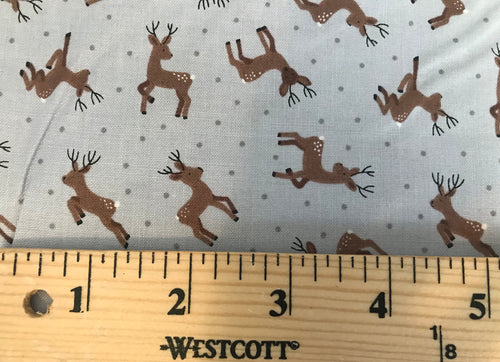 Deer Grey ~ Small Things...Country Creatures~ Lewis & Irene 100% Cotton