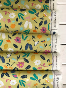 Breezy Blossoms Pineapple ~ Summer Side Collection ~ Dana Willard for Art Gallery Fabrics 100% Cotton