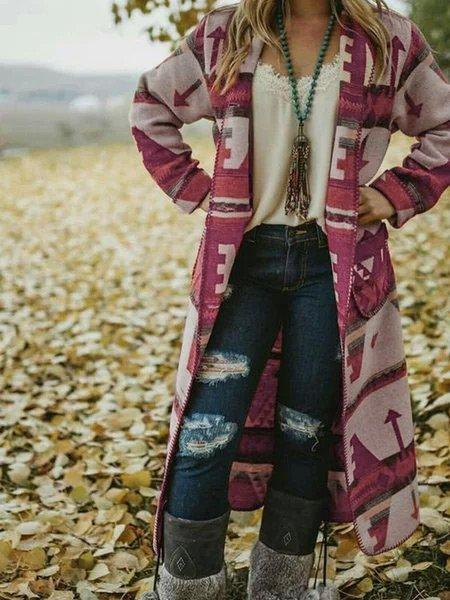 Tribal Long Sleeve Vintage Gypsy Coat