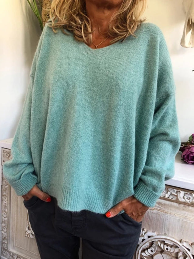 Solid Oversize Tunic Sweater
