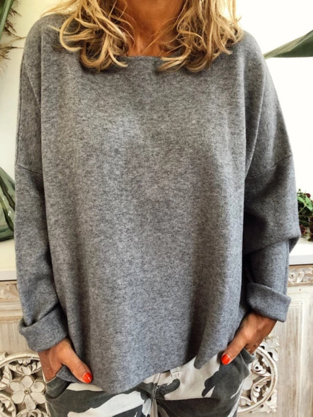 Casual Long Sleeve Tunic Blouse