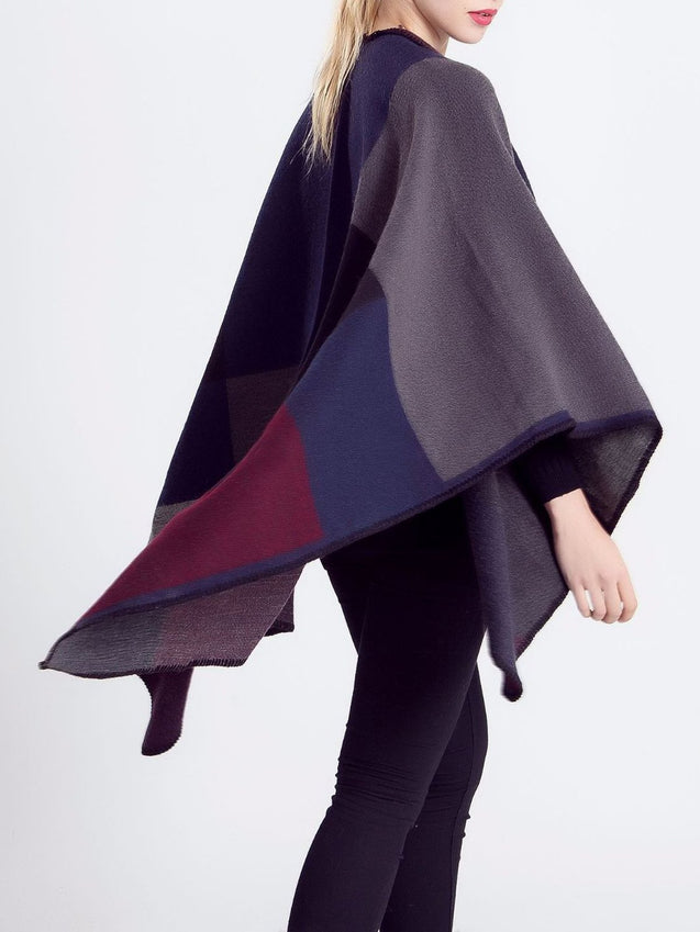Cashmere Cape Poncho Cardigan Outwear