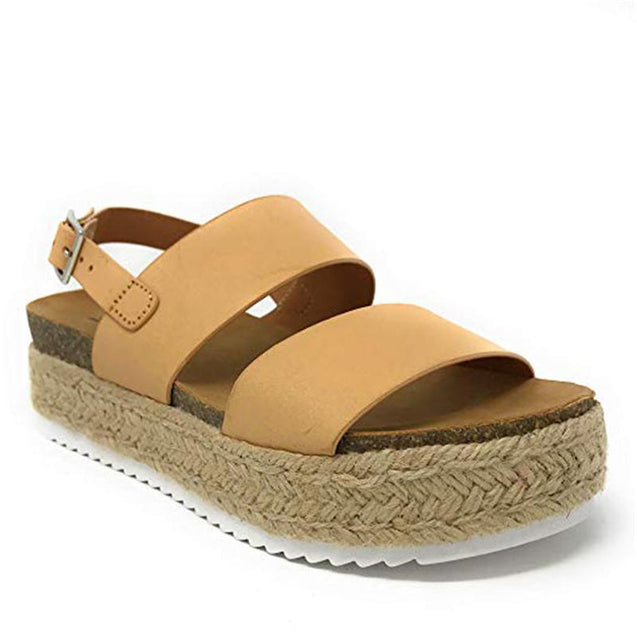 Platform Grass Sandals Flat Loafers
