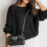 Casual V Neck Back Batwing Sleeve Sweater