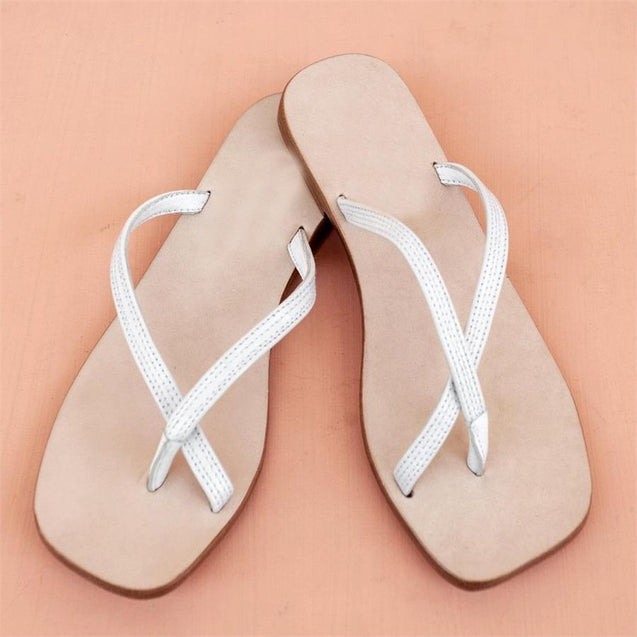 Versatile Square Flat Slippers Sandals