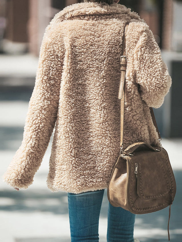 Shawl Collar Cozy Long Sleeve Cashmere Coat