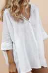 Flare Long Cotton Oversized Shirt