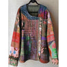 Plus Size U-Neck Abstract Blouses
