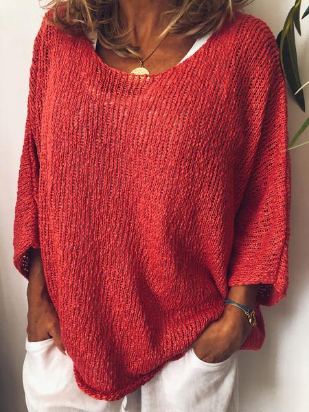 Long Sleeve Cotton-Blend Ribbed Top
