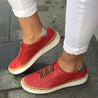 Women Slide Hollow-Out Round Toe Flat Casual Sneakers
