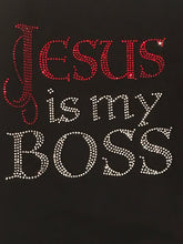 Load image into Gallery viewer, Jesus is My Boss Tee Shirt - Red