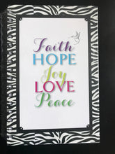Load image into Gallery viewer, ABIDE Journal - FAITH, HOPE, JOY, LOVE, PEACE