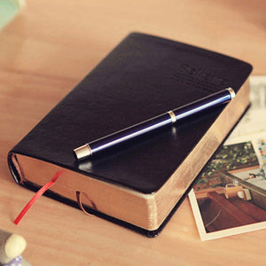 Abide Blank page Bible Believers Note taker Diary- Leather Cover