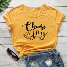 Load image into Gallery viewer, Choose Joy Tee - Romans 15:13